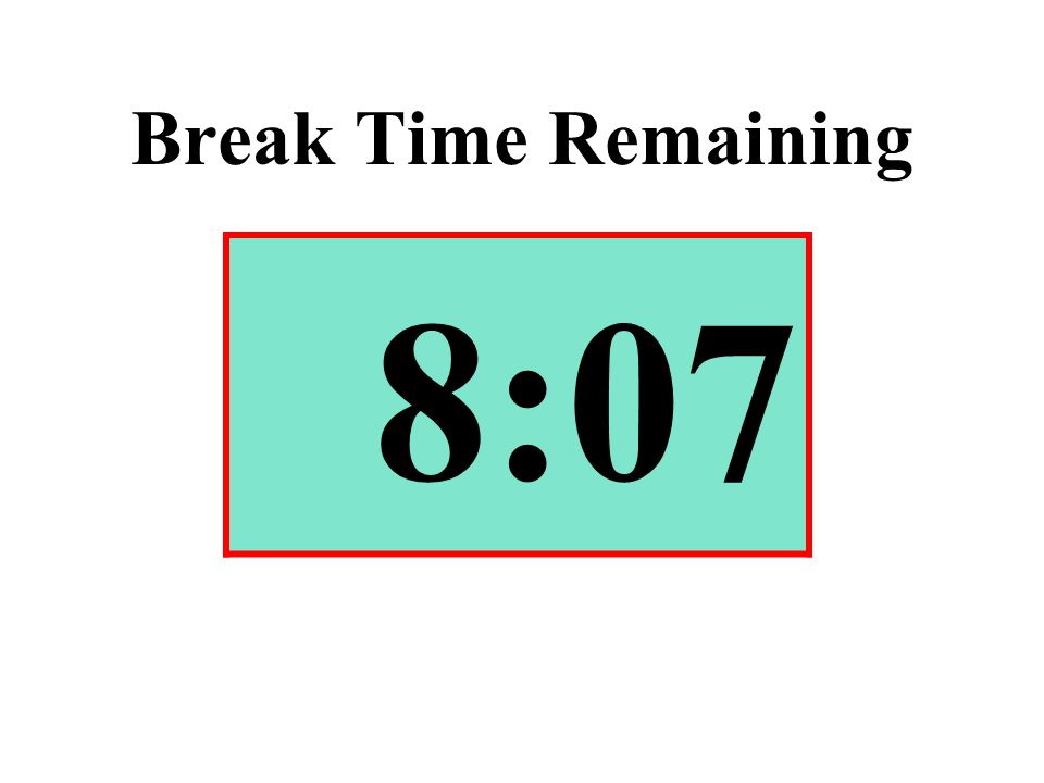 Break Time Remaining 8:07