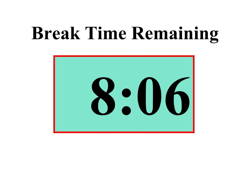 Break Time Remaining 8:06