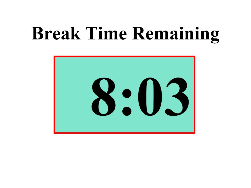 Break Time Remaining 8:03
