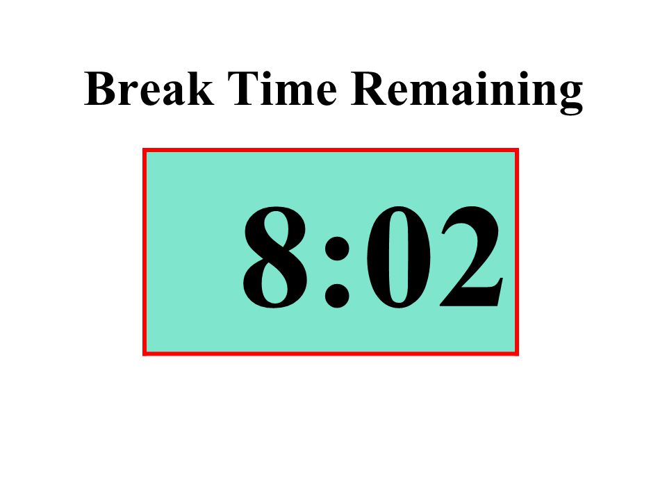 Break Time Remaining 8:02
