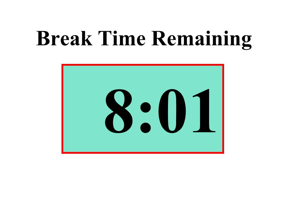 Break Time Remaining 8:01