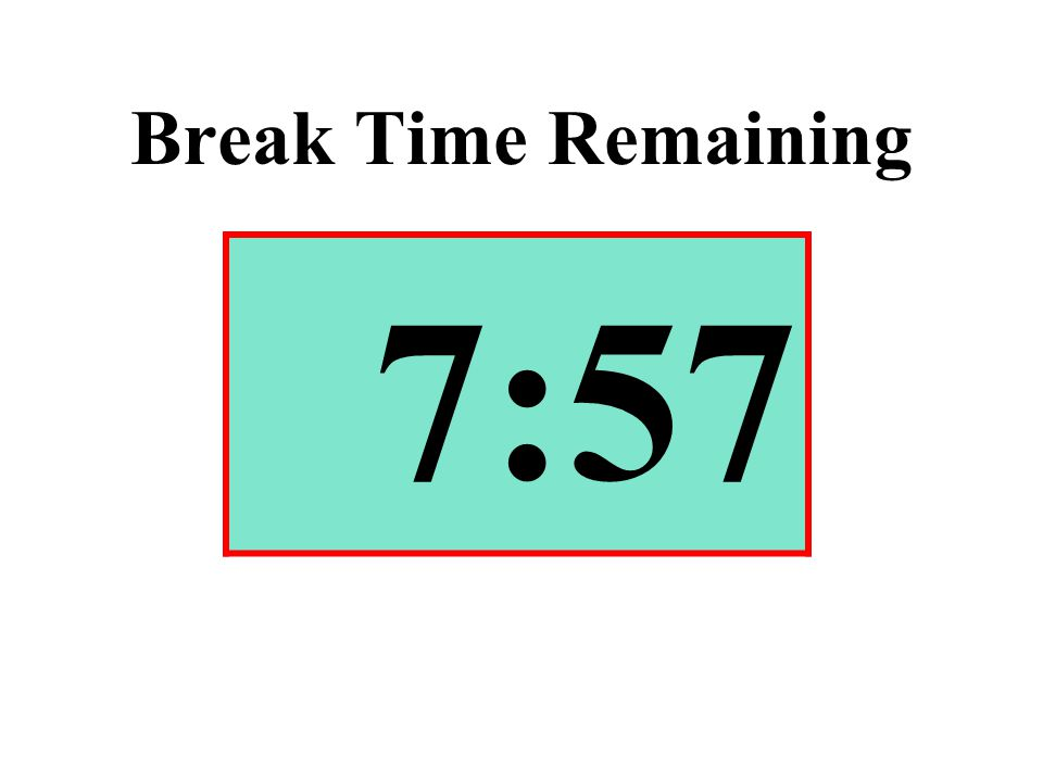 Break Time Remaining 7:57