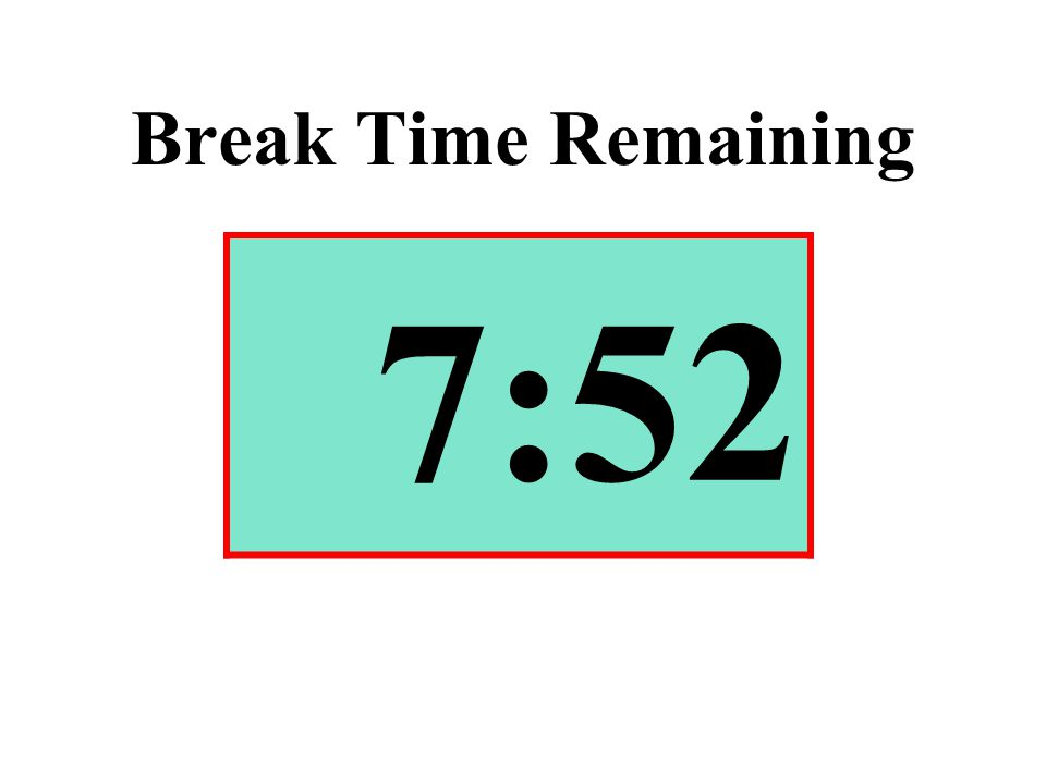 Break Time Remaining 7:52