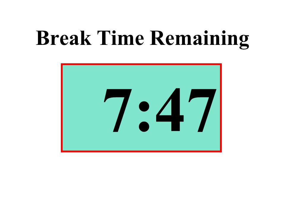 Break Time Remaining 7:47