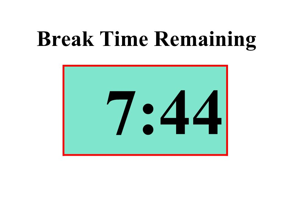 Break Time Remaining 7:44