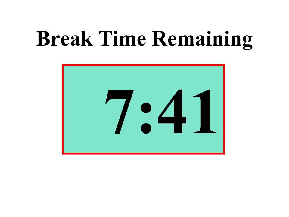 Break Time Remaining 7:41