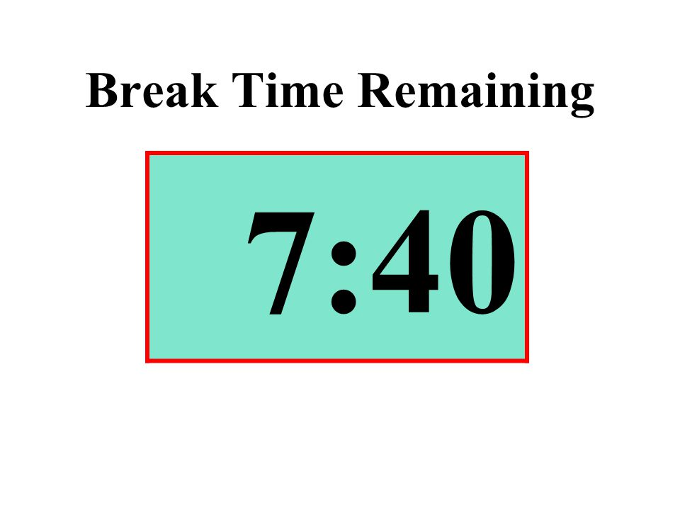 Break Time Remaining 7:40