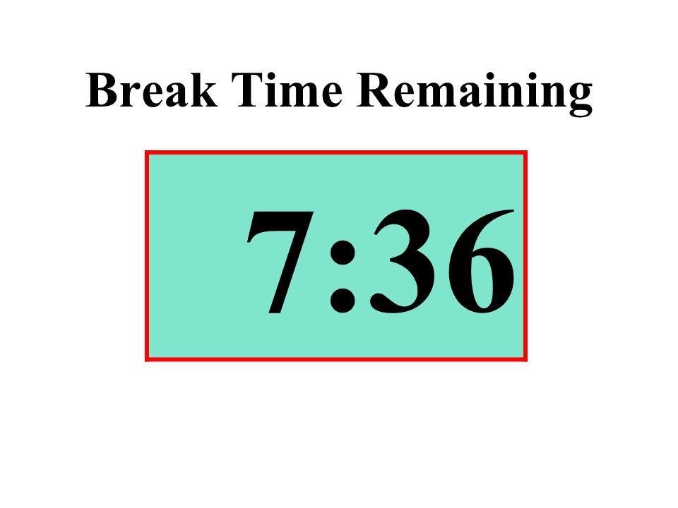 Break Time Remaining 7:36