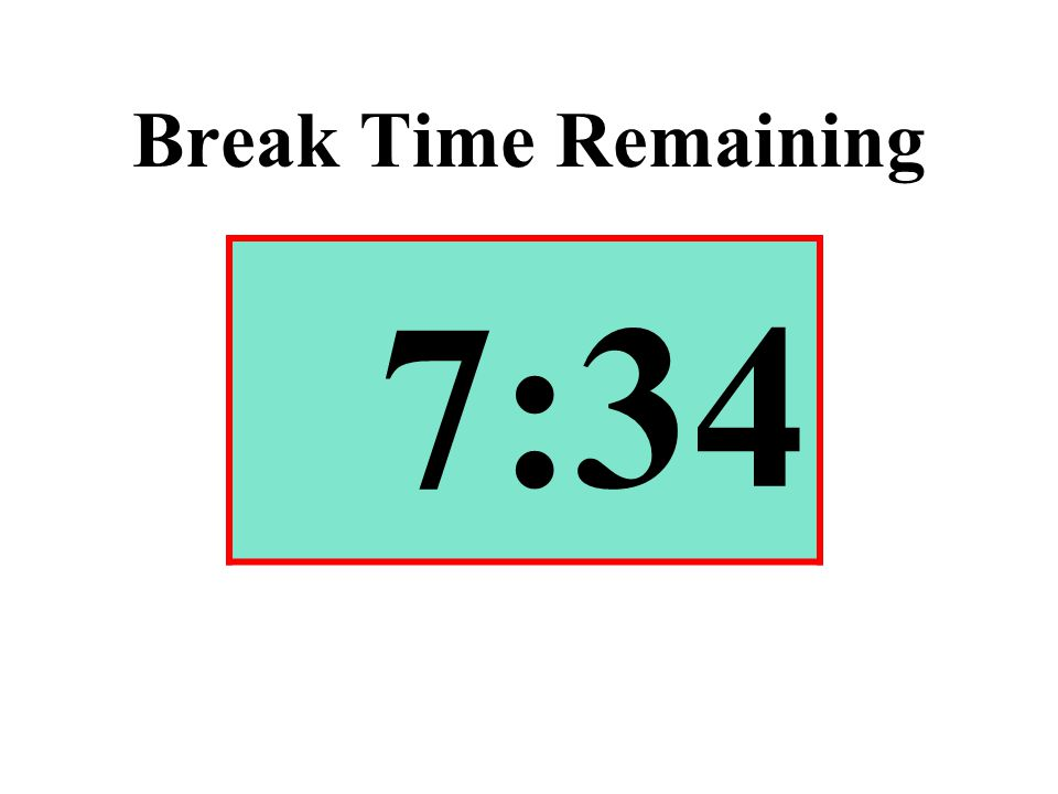 Break Time Remaining 7:34