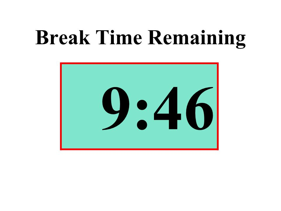 Break Time Remaining 9:46