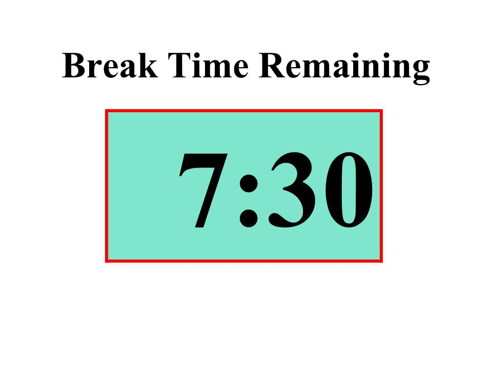 Break Time Remaining 7:30