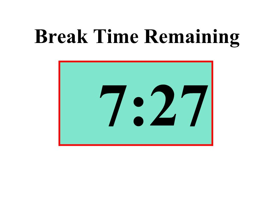 Break Time Remaining 7:27