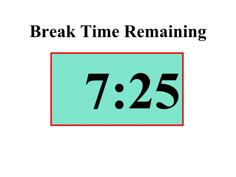 Break Time Remaining 7:25