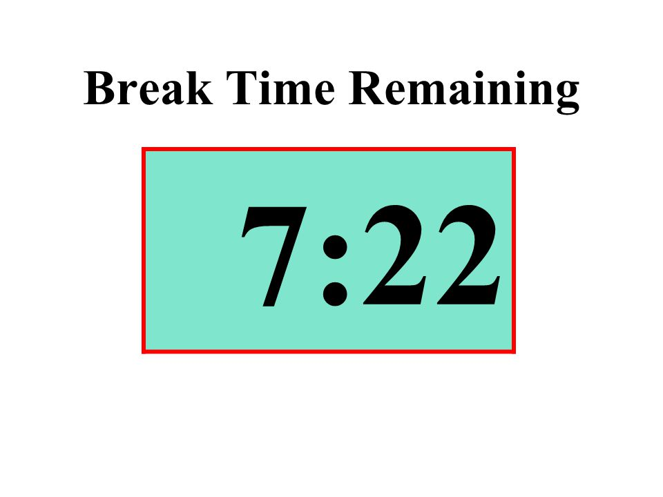 Break Time Remaining 7:22