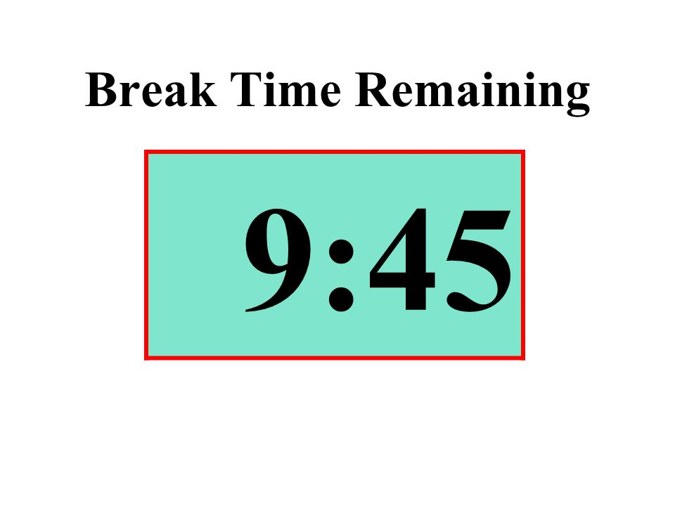 Break Time Remaining 9:45