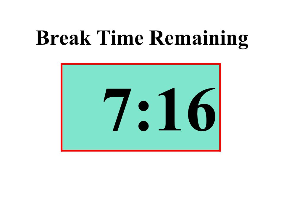 Break Time Remaining 7:16