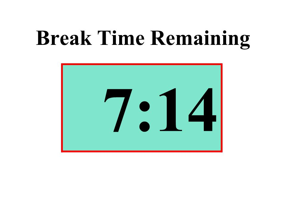 Break Time Remaining 7:14