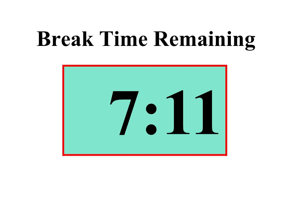 Break Time Remaining 7:11