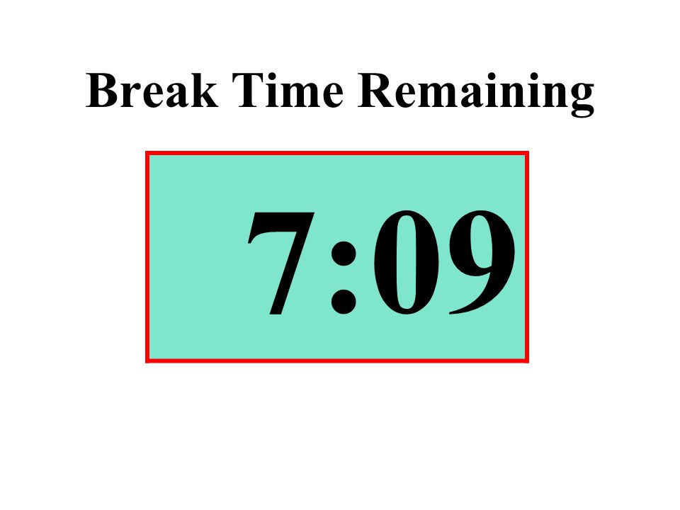 Break Time Remaining 7:09