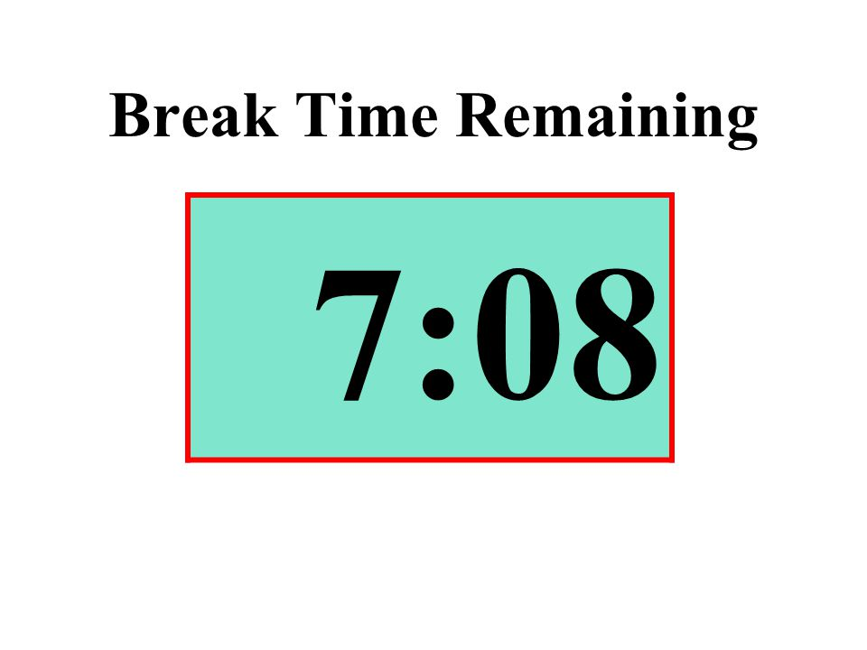 Break Time Remaining 7:08