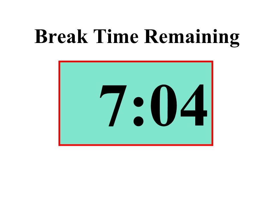 Break Time Remaining 7:04
