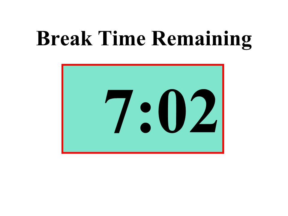 Break Time Remaining 7:02