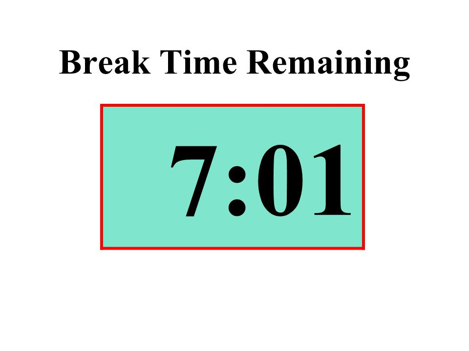 Break Time Remaining 7:01