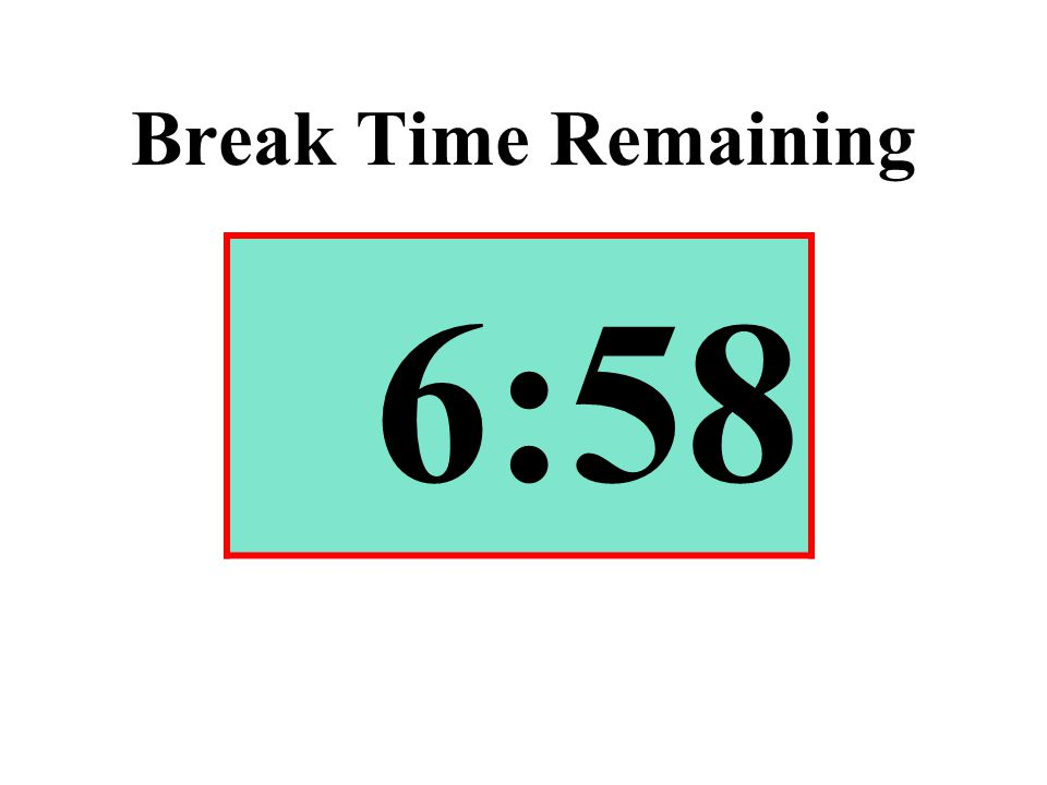 Break Time Remaining 6:58