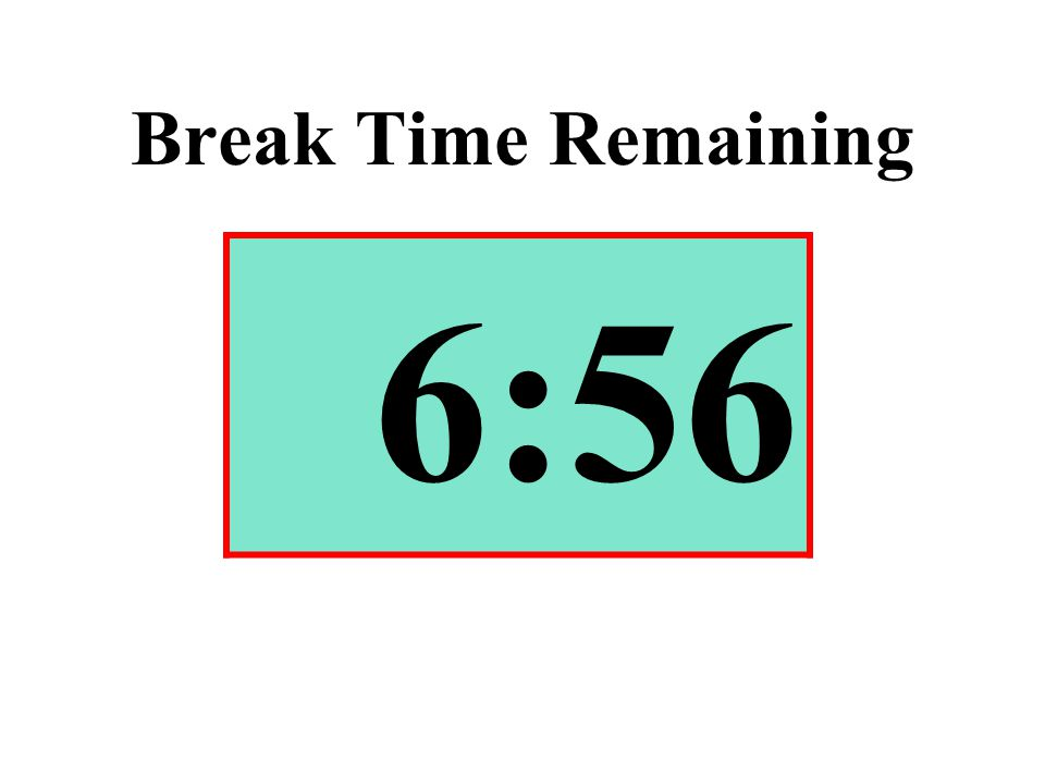 Break Time Remaining 6:56
