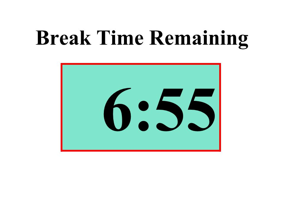 Break Time Remaining 6:55