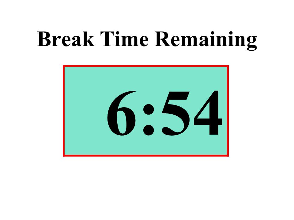 Break Time Remaining 6:54