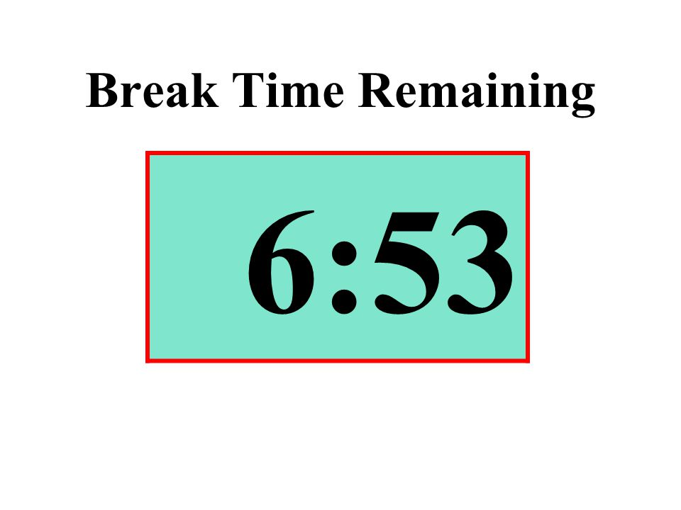 Break Time Remaining 6:53