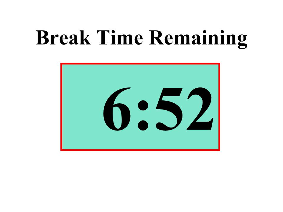 Break Time Remaining 6:52