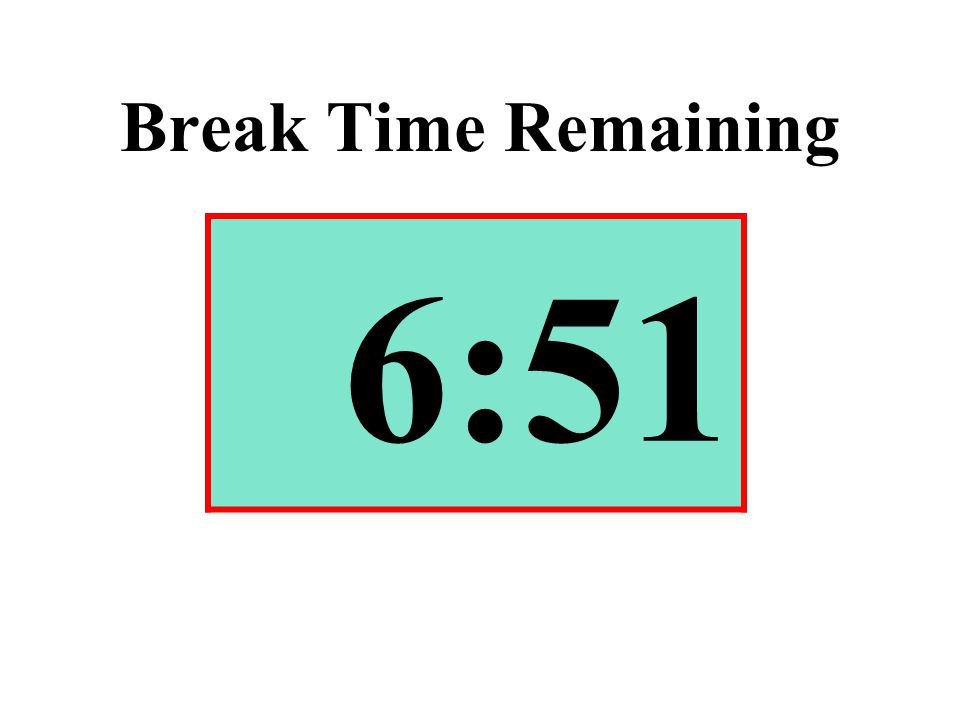 Break Time Remaining 6:51