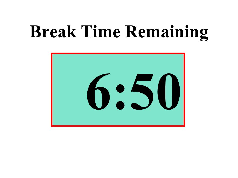 Break Time Remaining 6:50