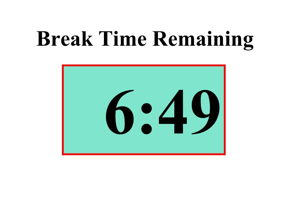 Break Time Remaining 6:49