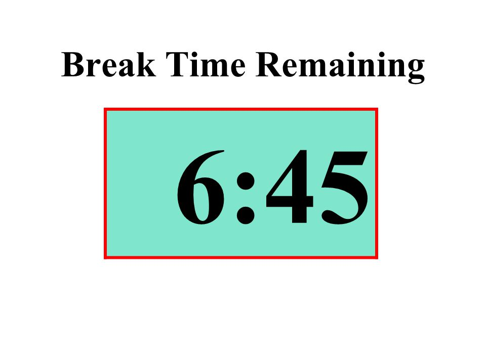 Break Time Remaining 6:45