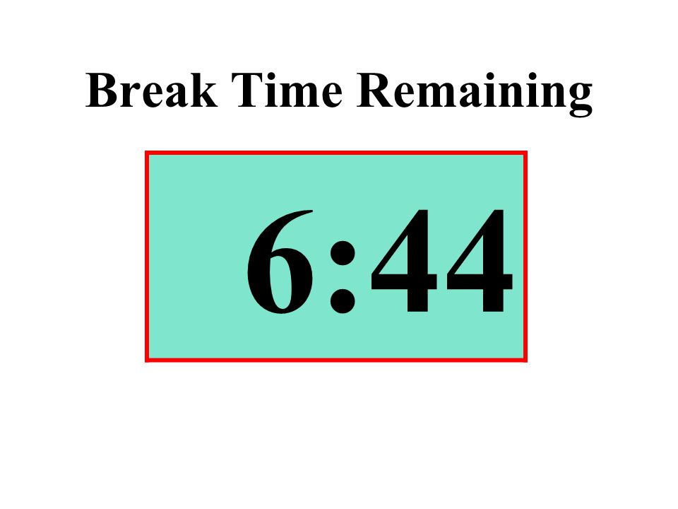 Break Time Remaining 6:44