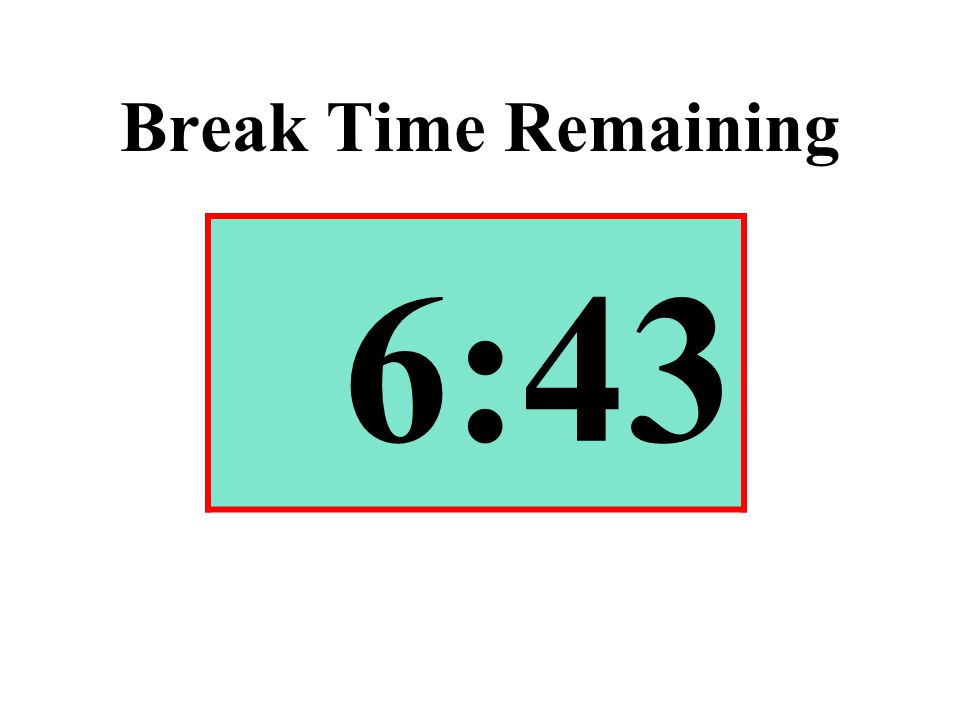 Break Time Remaining 6:43