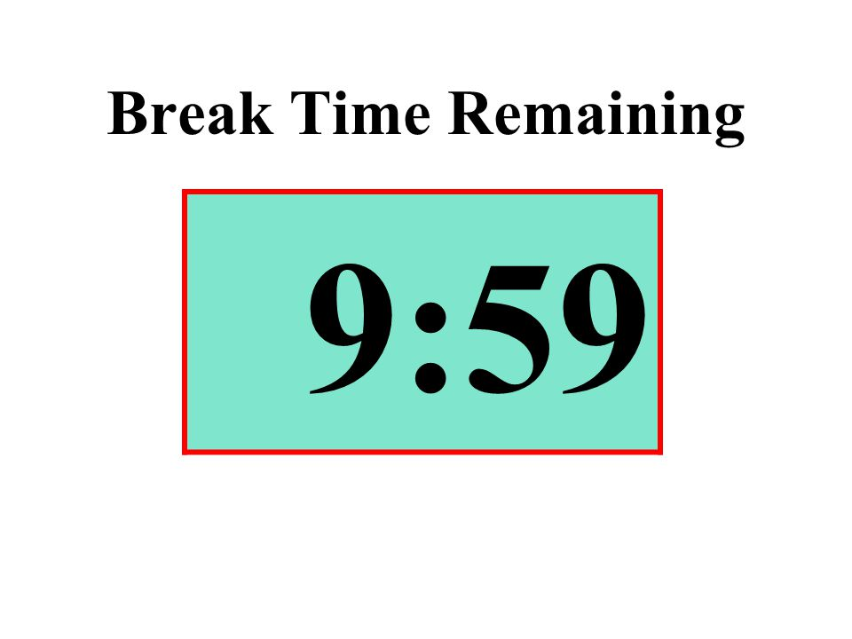 Break Time Remaining 9:59