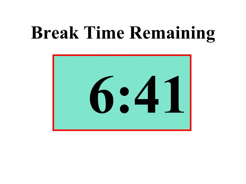 Break Time Remaining 6:41