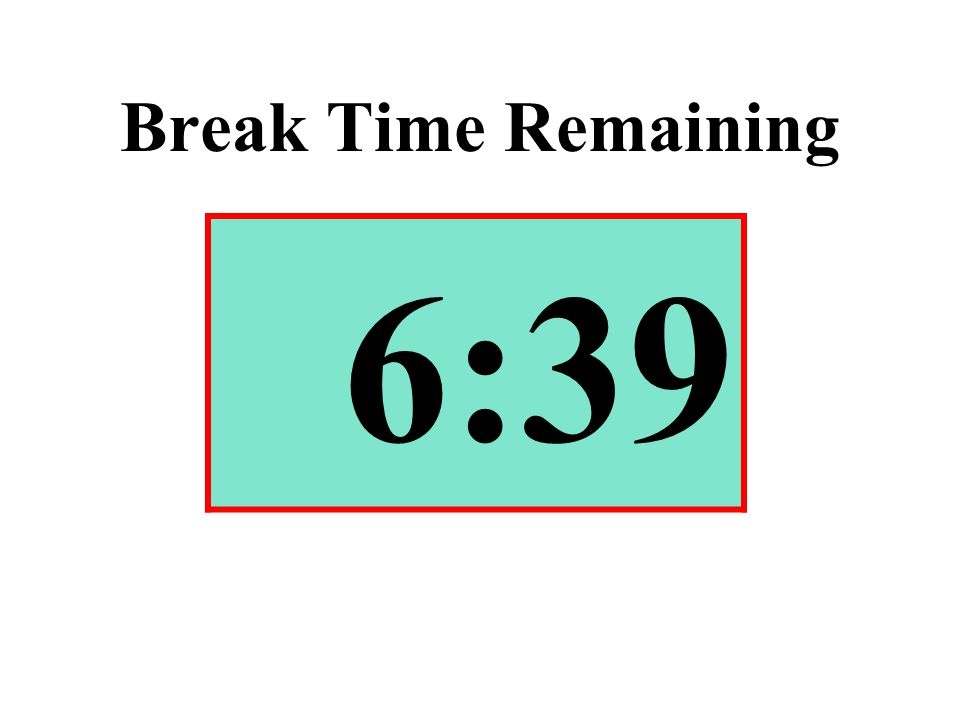 Break Time Remaining 6:39