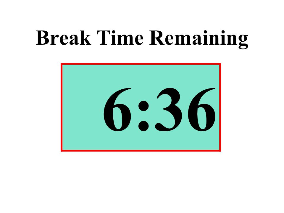 Break Time Remaining 6:36