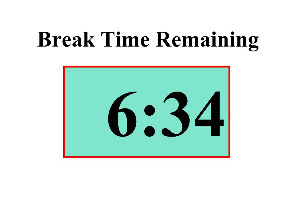 Break Time Remaining 6:34