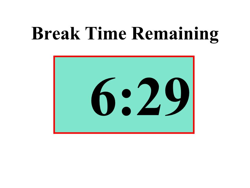 Break Time Remaining 6:29