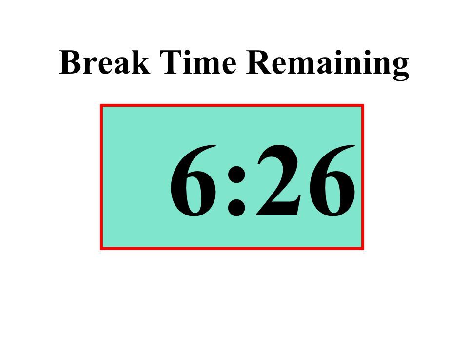 Break Time Remaining 6:26