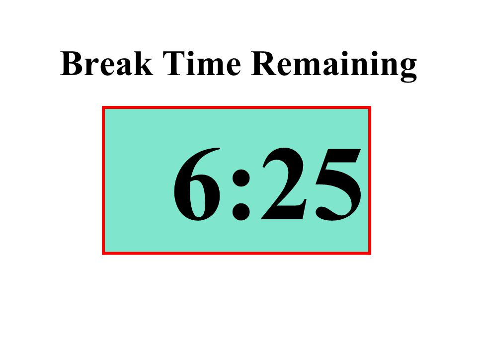 Break Time Remaining 6:25