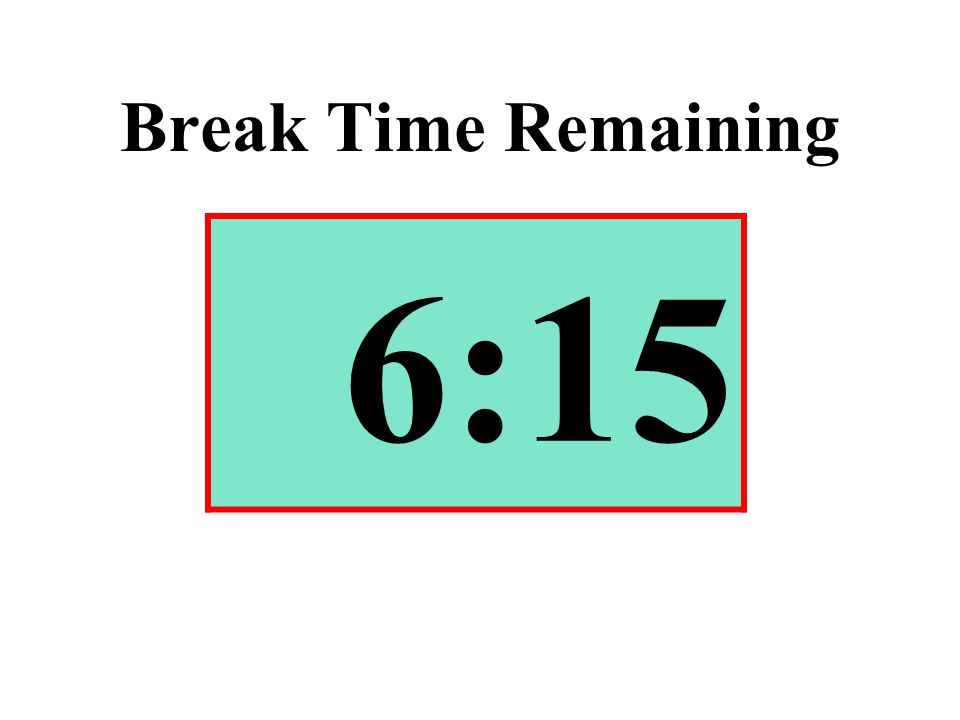 Break Time Remaining 6:15