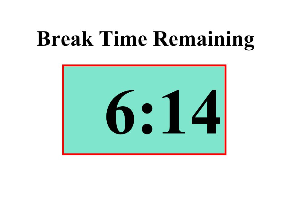 Break Time Remaining 6:14
