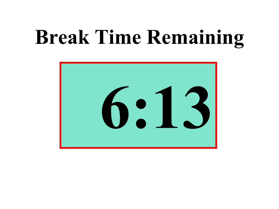 Break Time Remaining 6:13